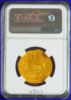 1593, Netherlands, Kampen, Catholic Monarchs. Rare Gold 2 Ducats Coin. NGC MS62