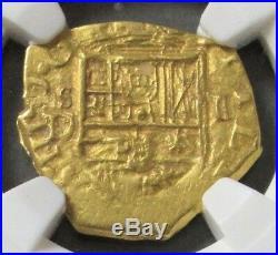1598 -1621 S Gold Spain 1 Escudo Felipe III Cob Seville Mint Ngc About Unc 53