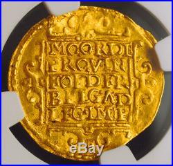 1643, Netherlands, Utrecht. Beautiful Gold Knight Ducat Coin. NGC MS-61