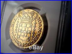 1725 BRAZIL PORTUGAL 10000 REIS 8 ESCUDOS DOLLARS PESOS GOLD COIN 27 Grs