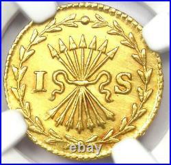 1751 Netherlands Utrecht Gold Stuiver Coin 1S NGC Uncirculated Detail (MS UNC)