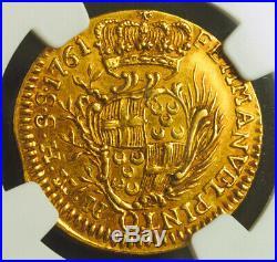 1761, Knights of Malta, Emmanuel Pinto. Gold 10 Scudi St. John Coin. NGC AU53
