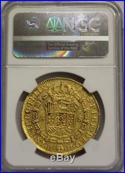 1776 Spain 8 Escudos Charles III Ngc Xf Details Madrid Mint Gold Coin Spanish