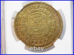 1791 Nr Jj Columbia 8 Escudos Carol III Gold Coin Au Details Ngc