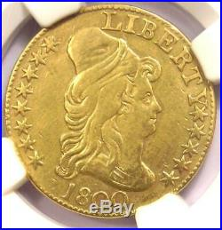 1800 Capped Bust Gold Half Eagle $5 Certified NGC XF Details Rare Coin