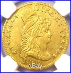1802/1 Capped Bust Gold Half Eagle $5 NGC AU Details Rare Gold Coin