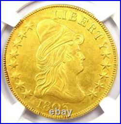 1803 Capped Bust Gold Eagle $10 Coin NGC Uncirculated Details (UNC MS) Rare