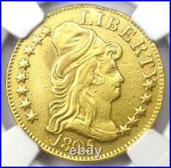 1805 Capped Bust Gold Half Eagle $5 Certified NGC AU Details Rare Gold Coin