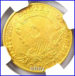 1810 Capped Bust Gold Half Eagle $5 Certified NGC VF Details Rare Gold Coin