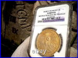 1828 Central American Republic 8 Escudos 8e Gold Coin
