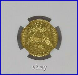 1834 $5 Classic Half Eagle NGC AU55 Plain 4 Variety Attractive Rare Coin