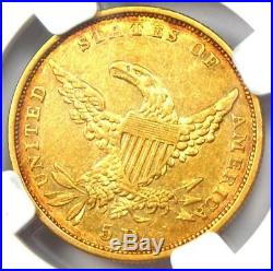 1834 Classic Gold Half Eagle $5 Coin Certified NGC XF40 Rare Type Coin