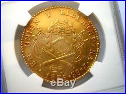1835 Argentina La Rioja 8 Escudos 8e Dollars Pesos Colonial Gold Coin