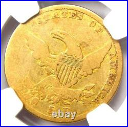 1836 Classic Gold Half Eagle $5 Coin Certified NGC G4 (Good) Rare