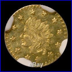 1853 California Fractional Gold Indian Wreath MS-66 NGC (PL) SKU#199465