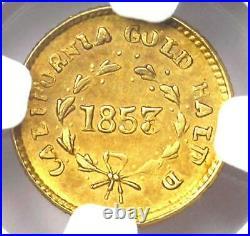 1853 Liberty California Gold Half Dollar G50C Coin BG-421 NGC UNC (MS)