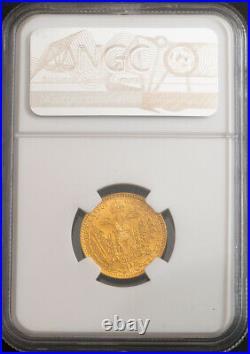 1865-E, Transylvania, Francis Joseph I. Gold Ducat Coin. Karlsburg! NGC MS-63