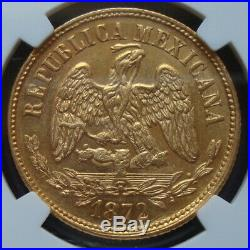 1872 /1MO M/C Mexico $10 Pesos Gold Coin Extra RARE, NGC MS61