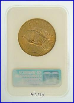 1908 $20 MS-63 No Motto NGC Gold Double Eagle Saint Gaudens Coin