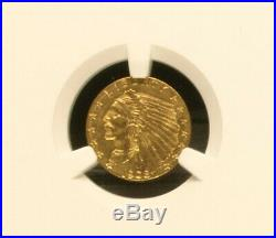1908 $2.50 Indian Gold Quarter Eagle NGC MS61 First Year Coin! Free Shipping