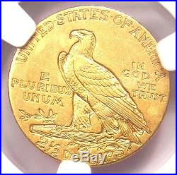 1909 Indian Gold Quarter Eagle $2.50 Coin Certified NGC AU50 Rare Coin
