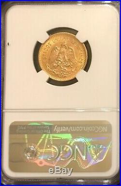1910 Mexico Gold 10 Peso Coin Ngc Ms61