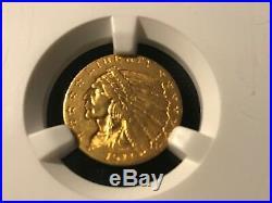 1911 $2.5 Gold Eagle A/U 55