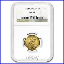1913 Canada Gold $5 MS-63 NGC SKU#180459