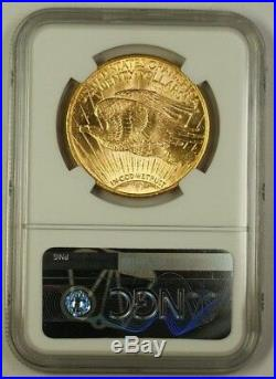 1914-S US St Gaudens $20 Double Eagle Gold Coin NGC MS-63 Very Choice