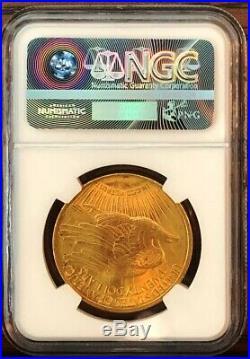 1922 $20 St. Gaudens Gold Double Eagle Coin NGC UNC DETAILS