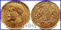 1922 Romania Ferdinand I Gold 100 Lei Ngc Ms62