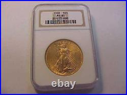 1922 Saint-Gaudens Double Eagle $20 Gold Coin NGC Graded MS 62 BEAUTIFUL