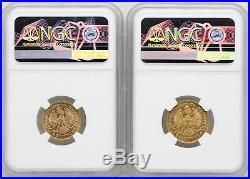 1925 Poland 20 Zlotych & 10 Zlotych Gold NGC MS64 Coins JB402