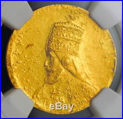 1927 (EE 1921), Ethiopia. Gold Mule Presentation Werk Pattern Coin. NGC MS-62