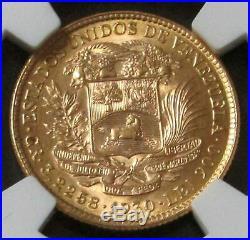1930 Gold Venezuela 10 Bolivares Simon Bolivar Coin Ngc Mint State 63