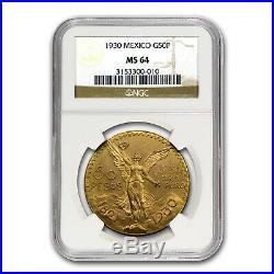 1930 Mexico Gold 50 Pesos MS-64 NGC SKU #66632