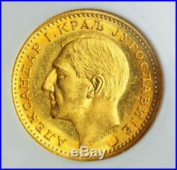 1931, Yugoslavia, Alexander I. Gold Ducat  Coin. Birds Ctmk! NGC MS-64