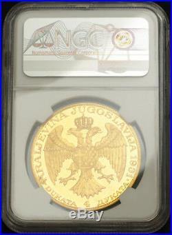 1931, Yugoslavia, King Alexander I. Gold 4 Ducat (4 Dukata). Rare! NGC MS-60