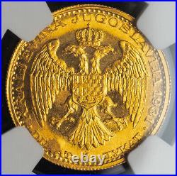 1931, Yugoslavia, King Alexander I. Gold Ducat  Coin. Sword! NGC MS-63