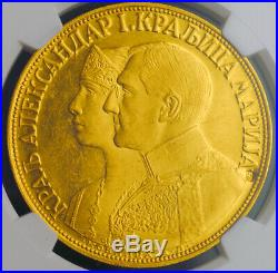 1932, Yugoslavia, King Alexander I. Gold 4 Ducat (4 Dukata). Rare! NGC MS-61