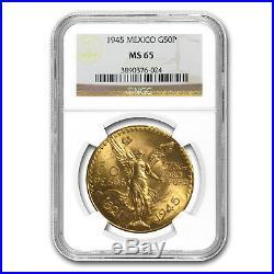 1945 Mexico Gold 50 Pesos MS-65 NGC SKU #86886