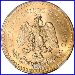 1947 Mexico Gold 50 Pesos Restrike NGC MS65