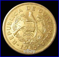 1965 Gold Guatemala 8 Gram Maya King Tecun Uman Mint State Coin