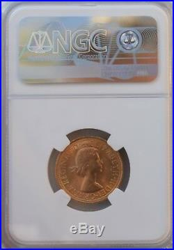 1967 Full Gold Sovereign Elizabeth NGC MS64 Uncirculated BU Coin UK SOV Britain