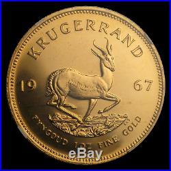 1967 South Africa 1 oz Gold Krugerrand MS-65 NGC SKU #69898