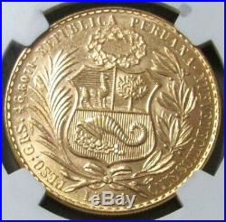 1969 Gold Peru 540 Minted 100 Soles Coin Ngc Mint State 63