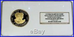 1977 Gold Philippines 5000 Piso Ferdindand & Imelda Marcos Ngc Proof 69 Uc Fma