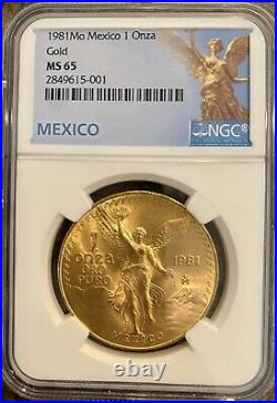 1981 Mexico Gold 1 Onza Libertad Ngc Ms 65 Bright Luster Beautiful Gem Bu Coin