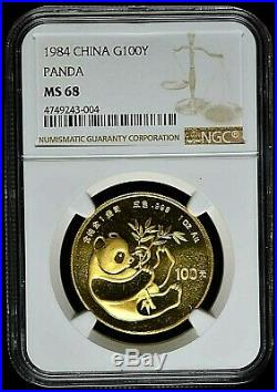 1984 China 100 Yuan Gold Panda Coin NGC/NCS MS68 Conserved by NCS