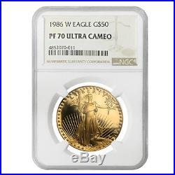 1986 W 1 oz $50 Proof Gold American Eagle NGC PF 70 UCAM